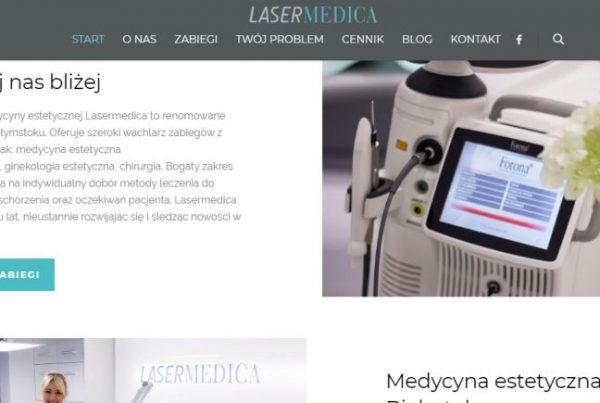 Współpraca z Lasermedica Białystok- kampanie google ads oraz pozycjonowanie
