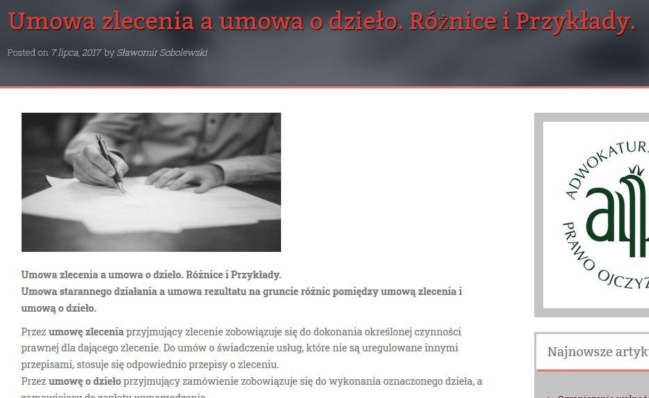 content marketing blog prawniczy