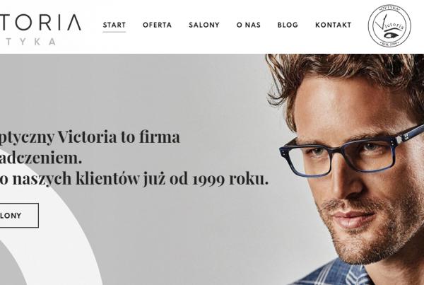 Projekt strony i marketing dla salonu optycznego