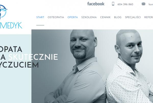 Osteomedyk - pozycjonowanie gabinetu osteopaty w Olsztynie