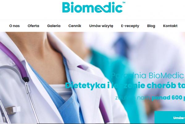 Pozycjonowanie i kampanie google ads dla Biomedic Olsztyn