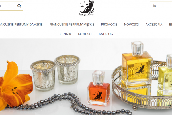 Pozycjonowanie perfumerii Angelove