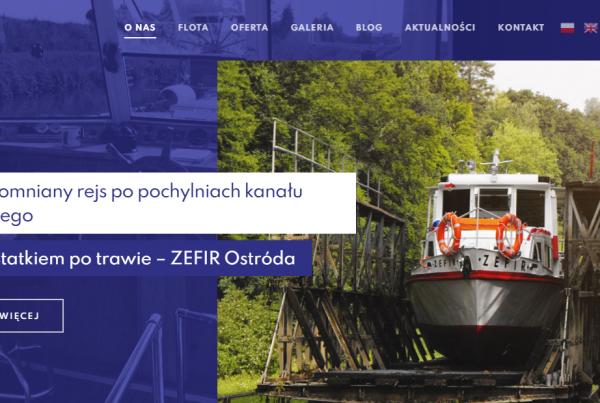 Pozycjonowanie strony Zefir Ostróda (rejsy po kanale elbląskim)